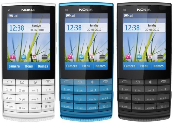 NOKIA X3-02 TOUCH & TYPE HANDY QUAD-BAND UMTS GPRS BLUETOOTH KAMERA MP3 WIE NEU
